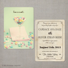 Candace - 5x7 Vintage Wedding Invitation