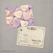 Candace - 4.25x5.5 Vintage RSVP Postcard