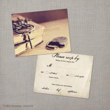 Nadine - 4.25x5.5 Vintage RSVP Postcard