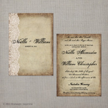 Noella - 5x7 Vintage Wedding Invitation