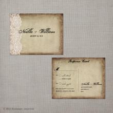 Noella - 4.25x5.5 Vintage RSVP Postcard