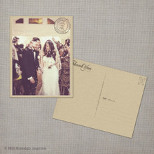 May - 4.25x5.5 Vintage Wedding Thank You Postcard