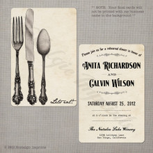 Let's Eat - 4x6 Wedding Rehearsal Dinner Invitation