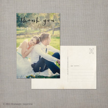 Melody - 4x6 Vintage Wedding Thank You Postcard card