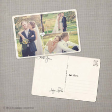 Aralyn 1 - 4x6 Vintage Wedding Thank You Postcard