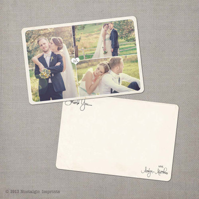 Aralyn 2 - 4x6 Vintage Wedding Thank You Card