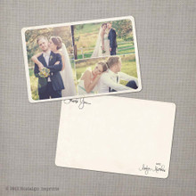 Aralyn 4 - 4x6 Vintage Wedding Thank You Card
