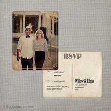Willow - 4.25x5.5 Vintage RSVP Postcard