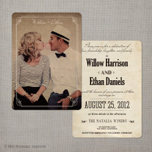 Willow - 5x7 Vintage Wedding Invitation