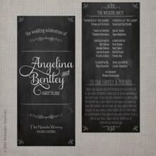 Wedding Program - Vintage Chalkboard 2