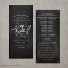 Wedding Program - Vintage Chalkboard 4