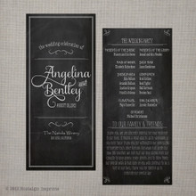 Wedding Program - Vintage Chalkboard 5