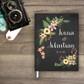 Chalkboard wedding guestbook guest book Guestbook - Botanical floral flower Garden 2 (gb0002)