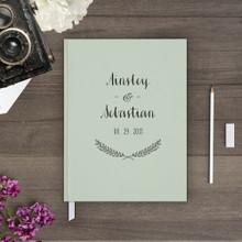 wedding guest book Guestbook - flower floral Wreath 2 (gb0006)