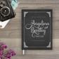 Chalkboard art wedding guestbook guest book
