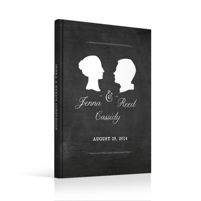 wedding guest book Guestbook - Silhouette (gb0015)