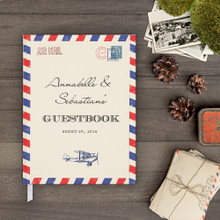 airmail wedding guest book guestbook