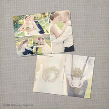 Melody 3 - 5x7 Vintage Wedding Thank You Postcard card