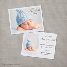 Baby Birth Announcement Lincoln - 4.25x5.5 Baby Birth Announcement