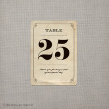 """Table Numbers - the """"Rose"""" (tn0004)"""