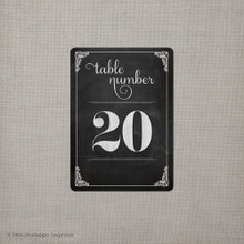 "Table Numbers - the ""Angelina"" (tn0006)"