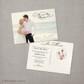 Christina - 5x7 Vintage Wedding Announcement Card
