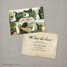 Jillian - 5x7 Vintage Wedding Announcement Card