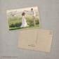 Inga - 4x6 Vintage Wedding Thank You Postcard