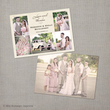 Meredith 2 - 5x7 Vintage Wedding Thank You Postcard card