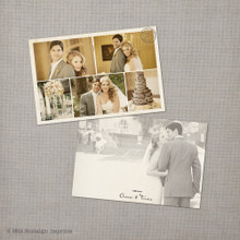 Trista 2 - 4x6 Vintage Wedding Thank You Card