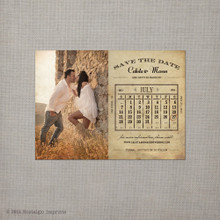 Calista 2 - 4x5.5 Vintage Save the Date Magnet