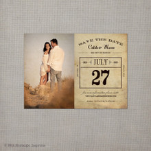 Calista 3 - 4x5.5 Vintage Save the Date Magnet