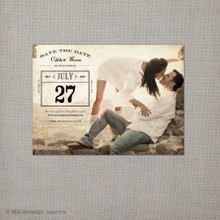 Calista 4 - 4x5.5 Vintage Save the Date Magnet