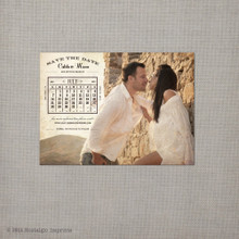 Calista 5 - 4x5.5 Vintage Save the Date Magnet