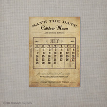 Calista 1 - 4x5.5 Vintage Save the Date Magnet