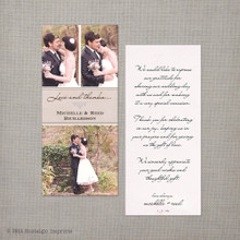 Michelle 2 - 4x9 Vintage Wedding Thank You Card