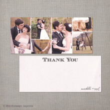 Michelle 1 - 4x9 Vintage Wedding Thank You Card