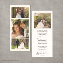 Izzy - 4x9 Vintage Wedding Thank You Card