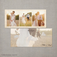 Millie - 4x9 Vintage Wedding Thank You Card