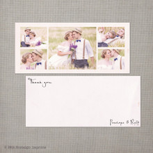 Penelope - 4x9 Vintage Wedding Thank You Card