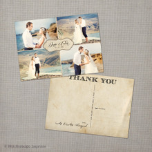 Denise 2 - 5x7 Vintage Wedding Thank You Card Cards