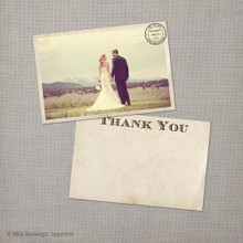 Gia - 4x6 Vintage Wedding Thank You Cards