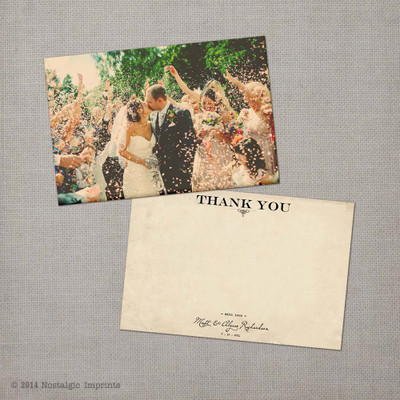 Alysse - 4x6 Vintage Wedding Thank You Card Cards
