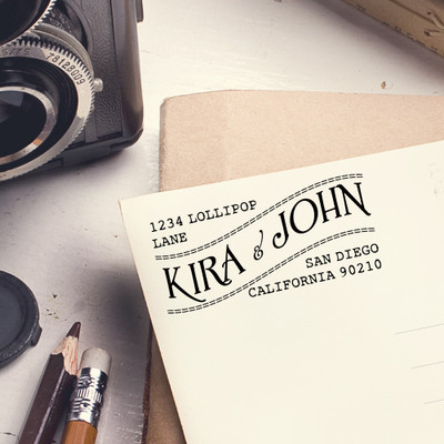 Custom self inking return address stamp