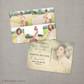 Vintage Photo Graduation Invitation Announcement Card Postcard Nadia - 5x7 Vintage Graduation Invitation Announcement