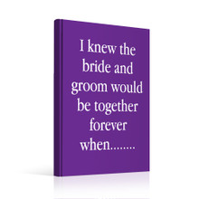 Guestbook - Small Talk Conversation Starter Wedding Guest Book Alternative