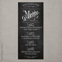 Wedding Menu - Vintage Chalkboard 6