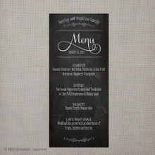Wedding Menu - Vintage Chalkboard 2