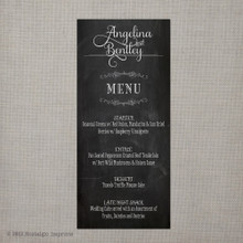 Wedding Menu - Vintage Chalkboard 3
