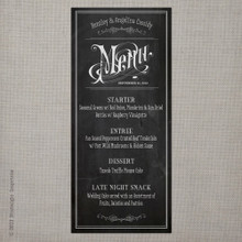 Wedding Menu - Vintage Chalkboard 4